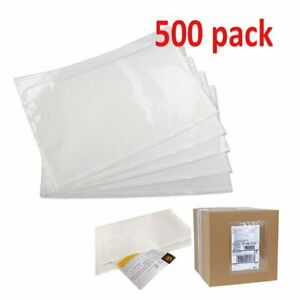 500pcs 6 X 9 Clear Top Loading Packing List Shipping Label Envelopes Pouches