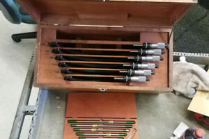Starrett Outside Micrometer Set 6 12 With Standards And Dovetail Box