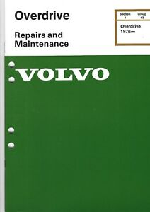 Volvo Service Manual Repairs Maintenance Overdrive 1976 Illustrated 1984