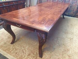 Antique Dining Table 10 Walnut Veneer