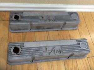 Mickey Thompson M T Valve Covers Cast Aluminum Small Block Chevy Lot2 103r 50b