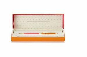 Kate Spade New York Handwritten Note Ball Point Ink Pen Pink orange