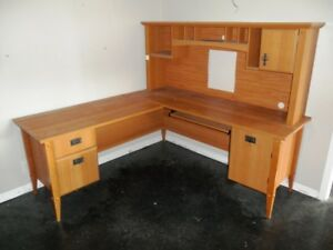 Wood Executive Secretary Computer Desk