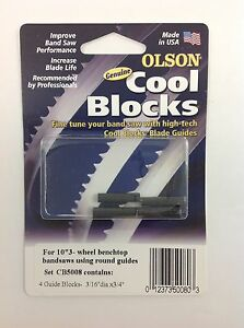 Olson Cool Blocks Band Saw Guides Cb50080 Round For 10 3 wheel Benchtop Saws