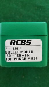 RCBS 82014 Cast Iron Bullet Mold 30-180-FN NEW Includes RCBS Top Punch #546