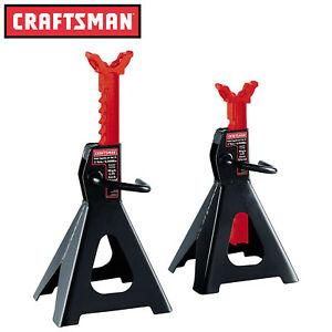 New Craftsman 3 Ton High Lift Jack Stands Pair 2 Auto Garage Tools Mechanic