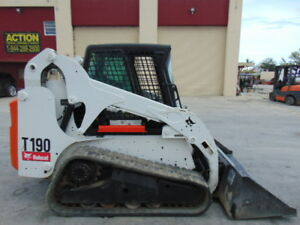 2012 Bobcat T 190 Turbo Ice Cold A c Comfort Cab Hyd Coupler Low Hours