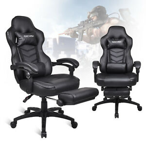 Gaming Chair High Back Race Car Style Office Seat Swivel Computer Desk Recliner