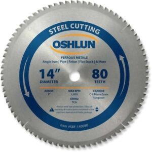 14 Inch Chop Saw Blade Carbide Evolution Power Tools 80 Tooth Metal Tcg Cold Cut