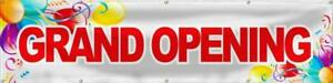 Wall26 Grand Opening Banner Sign Store Signs Flag 24x96