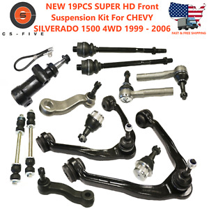 New 19pcs Front Suspension Kit For Chevrolet Silverado 1500 4wd 1999 2006