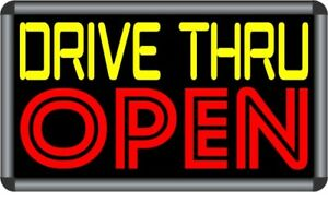Drive Thru Open Led Back Lit Sign Box