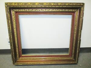 Sale 19th Century Aesthetic Victorian Large Frame Original Gold Copper Roses