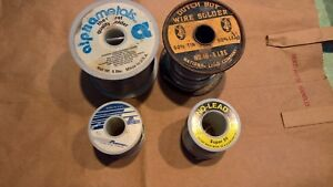 11lbs Plumbing Solder 4 Different Spools Type Brands Great For Copper Plumbing