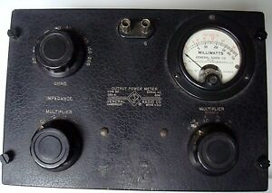 Vintage General Radio Type 583 a Output Power Meter Ohms Mw Milliwatts Decibels