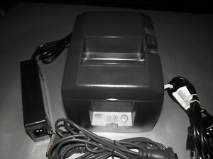 Star Micronics Tsp650 Tsp654 Pos Thermal Receipt Printer W Power Supply Serial