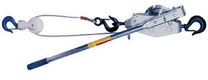 Cable Ratchet Hoist winches 2 Tons Capacity 20 Ft Lifting Height 110 Lbf