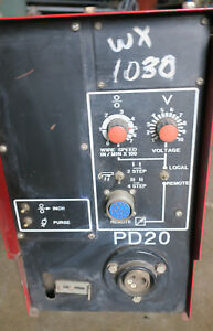 Powcon Pd20 2 roll Constant Speed Welding Wire Feed Unit k201260