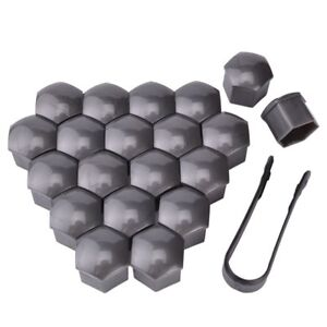 21mm Wheel Nut Covers Lug Nut Center Covers Hub Screw Cover Protector Rim Gray