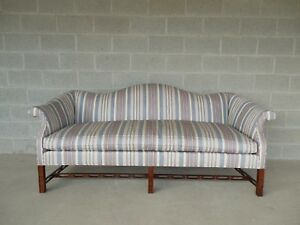 Hickory Chair Chinese Chippendale Style Camel Back Sofa 81 W