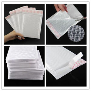 20 100pc Padded Poly Bubble Mailers Shipping Plastic Self Sealing Envelopes Bags