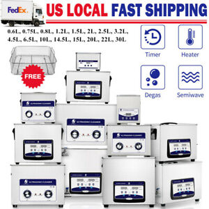 2 30l Ultrasonic Cleaner Heating Timer Bath Ultra Sonic Solution Parts Carb Lab