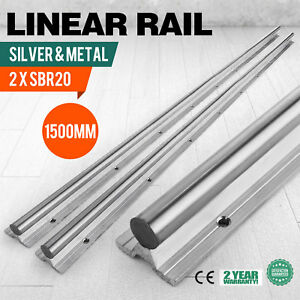 Sbr20 1500 20mm 2x Linear Rail Set Cnc 20mm Grinding Smooth Sliding