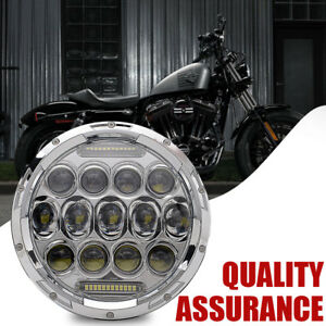 7 Motorcycle Led Projector Daymaker Headlight For Harley Touring Street Glide