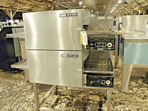 Lincoln Impinger 1116 Double Stack Nat Gas 18 Pizza Bread Baking Conveyor Oven