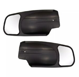 New Cipa 10900 Pair Of Custom Towing Mirrors Black Read Des