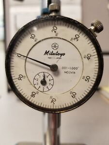 Mitutoyo Dial Indicator 001 To 1 000 No 2416 W Stand