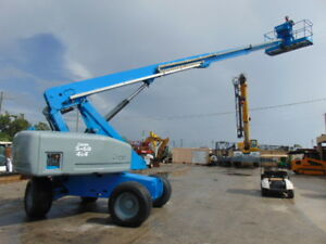 2008 Genie S 60 Telescopic Boom Man Lift Diesel 4x4 All Terrain Turf Tires