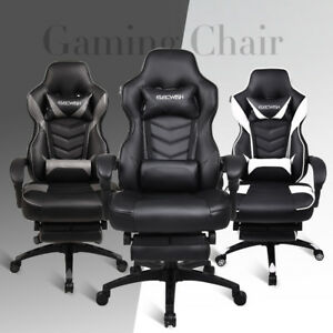 High Back Gaming Chair Racing Recliner Computer Desk Office Ergonomic Headrest