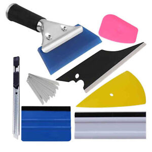 Car Window Film Wrapping Tint Vinyl Squeegee Scraper Applicator Tools Kit Usa
