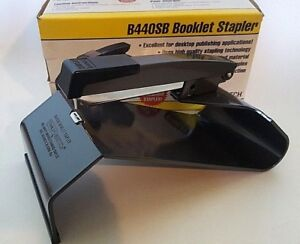 Stanley Bostitch Long Arm Booklet Stapler B440sb Standard Staples Nib