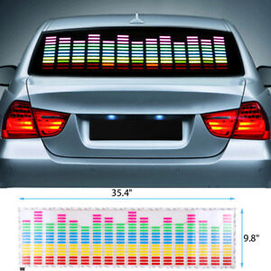 Colorful Sound Activated 90x25 Car Vehicle Music Rhythm Led Flash Light Sticker