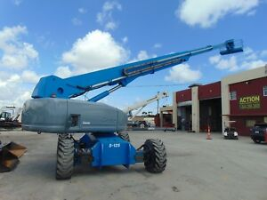 2003 Genie S 125 Telescopic Boom Lift 131 Man Working Height Jib Extension