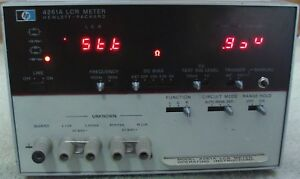 Hp Agilent Keysight 4261a Digital Lcr Meter Nist Calibrated