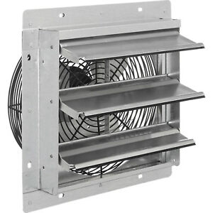 12 w Exhaust Ventilation Fan With Shutter Single Speed Lot Of 1