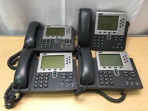 Lot Of 4 Cisco 7960 Ip Phone Voip Internet Phone Sip Or Sccp Firmware Cp 7960g