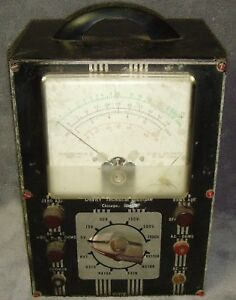 Vintage 1955 devry Technical Institute ohmmeter voltmeter model 1s14 very Rare
