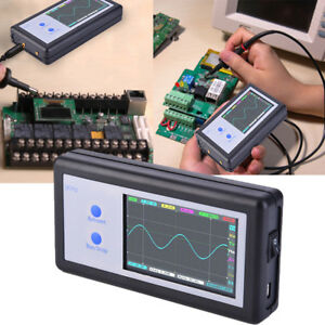 D602 Portable Digital Electronic Oscilloscope 3 2 Lcd 12bit Adc Double Channel
