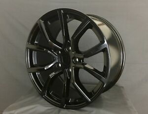 20x9 5 Inch Wheels Rims 5x130 Et50 Black For Audi Porsche Vw Touareg Cayenne Q7
