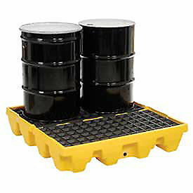 4 Drum Low Profile Spill Containment Pallet Lot Of 1