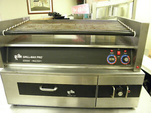 Star Grill Max Pro 50s Hot Dog Sausage Roller With Star Bun Warmer Sst 45hc