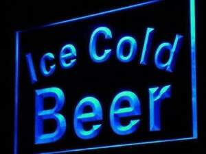 Ice Cold Beer Led Neon Light Sign
