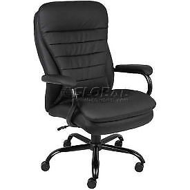 Big Tall Executive Chair Caresoft Upholstery Black Lot Of 1