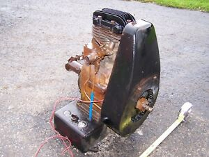Old Sattley Vertical Air Cooled Indstrial Engine Nelson Brothers Hit Miss Nice