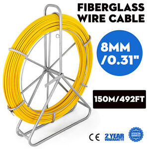 8mm 150m Fiberglass Wire Cable Running Rod Fish Tape Puller Rodder Local Reel