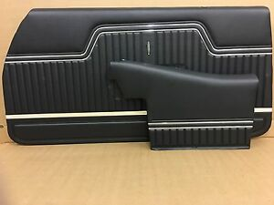 1970 Chevelle Convertible Pui Platinum 4 Pcs Set Interior Door Panels Assembled